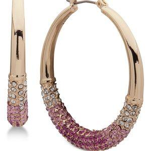 Medium Ombré Pavé Hoop Earrings
